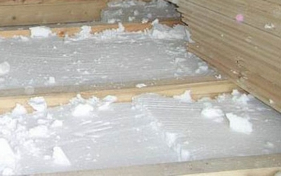 Утепление пола бани пенопластовыми плитами