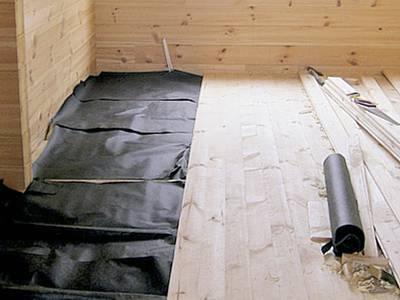 Утепление деревянного пола бани