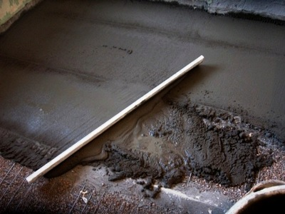 Заливка бетонного пола