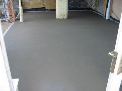 Цементно-песчаная стяжка в готовом виде
