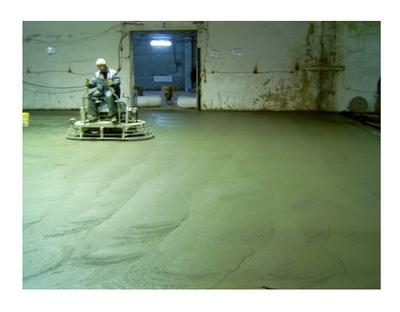 Упрочнение поверхности бетонного пола