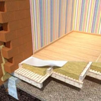 Слои утеплителя для бетонного пола