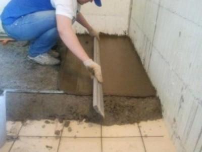 """При выравнивании бетонного пола излишки перетекают в другие """"карты"""""""