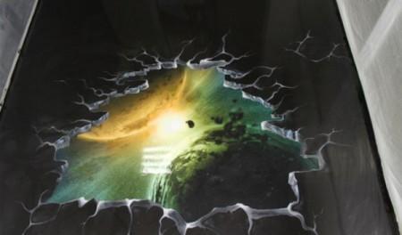 Заливной пол 3D - космос