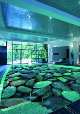 Заливной пол 3D в бассейне