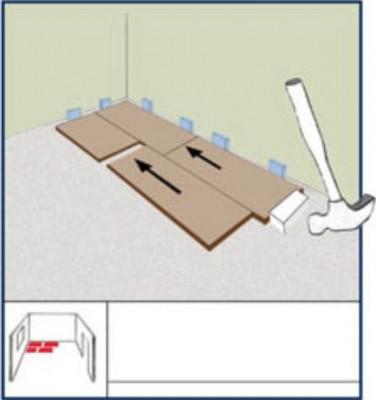 Как зафиксировать второй ряд ламината
