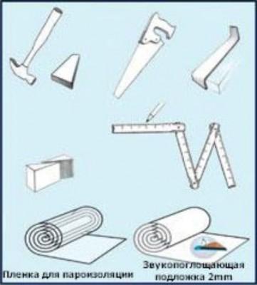 Инструменты, которые пригодятся для укладки ламината