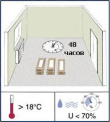 Температура и влажность, необходимые при укладке ламината
