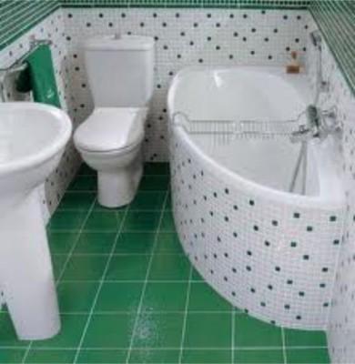 Пол в ванной из керамической плитки