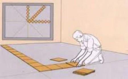 Как разметить пол перед укладкой плитки