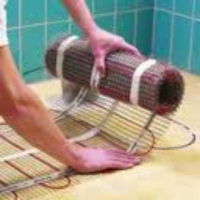 """Как настелить """"теплый пол"""" в ванной"""