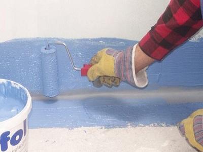 Обмазочная гидроизоляция деревянного пола в ванной комнате