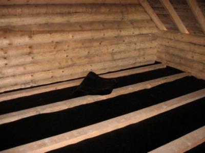 Гидроизоляция деревянного пола бани