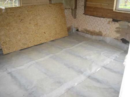Как пароизолировать деревянный пол