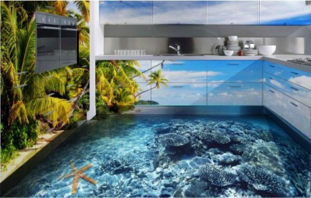 Наливной пол для кухни