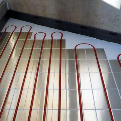 Водяной теплый пол на основе полистирольных плит
