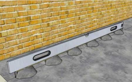 Установка направляющих маяков для бетонного пола