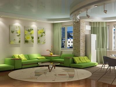 Дизайн пола в гостиной