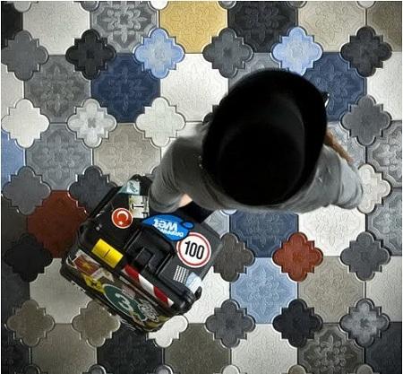 Интересный дизайн напольной плитки