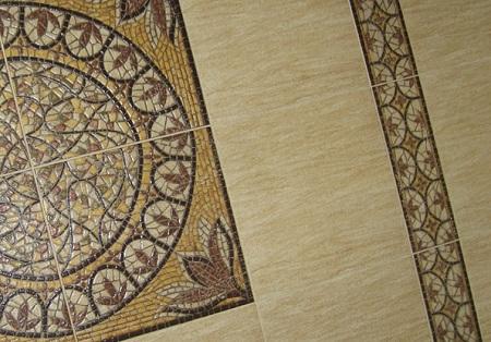 Комбинирование напольной керамической плитки