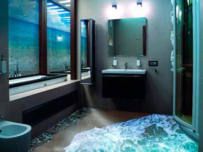 Наливной 3d пол — эффектное украшение любой ванной