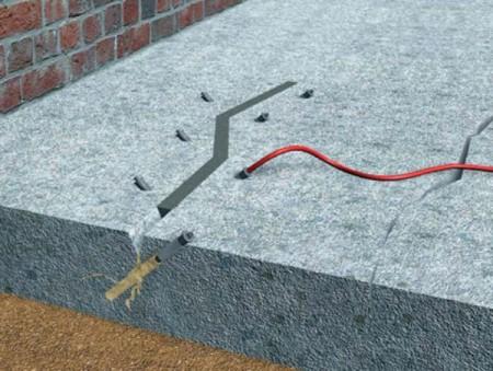 Инъекция эпоксидной смолой бетонной стяжки