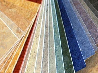 Цветовая палитра мармолеума разнообразна