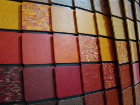 Цветовая гамма натурального линолеума