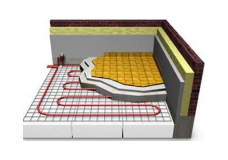 Схема обустройства теплого пола под плиткой