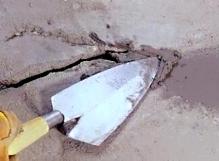 Заделка трещин на бетонном основании