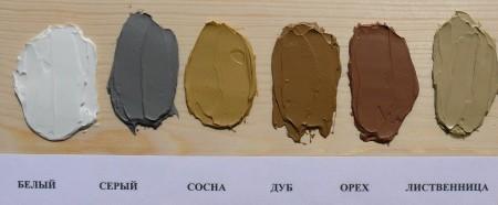цвет акриловой шпаклевки